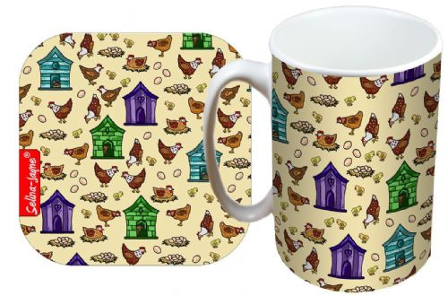 Selina-Jayne Hens Limited Edition Designer Mug and Coaster Gift Set